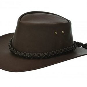 Jacaru Kangaroo Brown Genuine Australian Made Leather Hat
