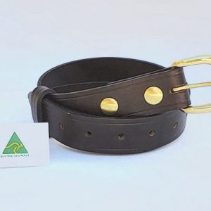 "1.5"" (38mm) Genuine All Leather Belt Made in Australia - Brown"