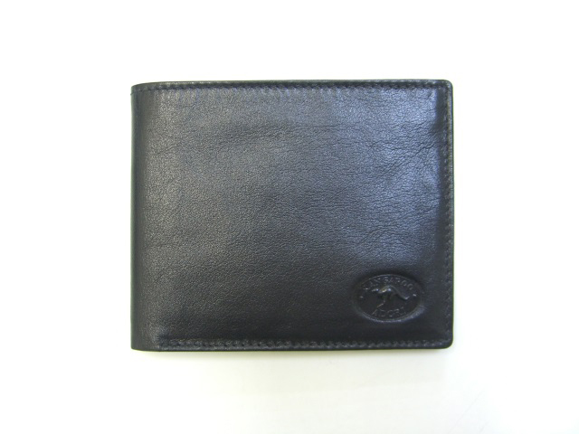 real-leather-made-in-australia-mens-wallets-black-front-view