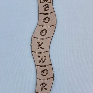 Real Leather Bookmark - Bookworm