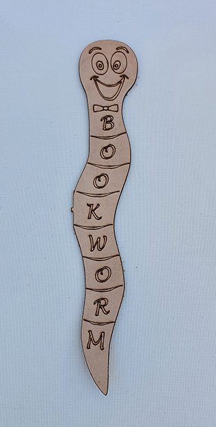 Real Leather Bookmarks Made in Australia - Bookworm Design