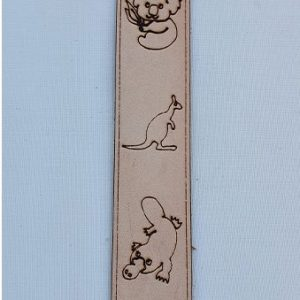 Real Leather Bookmark - Australia Koala Kangaroo Platypus