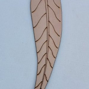 Genuine Leather Bookmark - Leaf