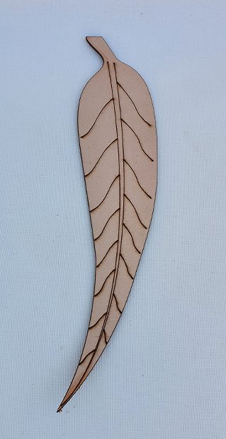 Real Leather Bookmarks Made in Australia - Leaf Design