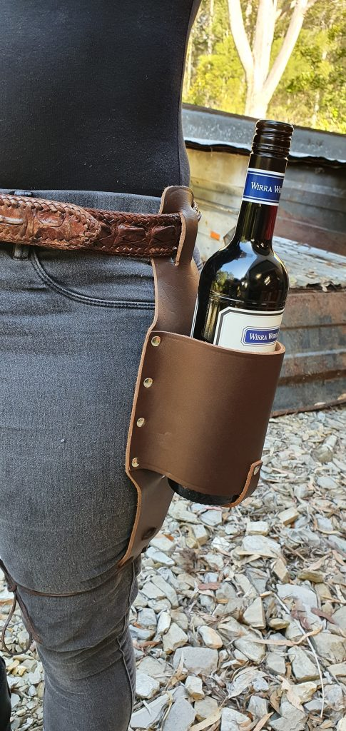 All Leather Wine Brown Leather Holster Made in Australia
