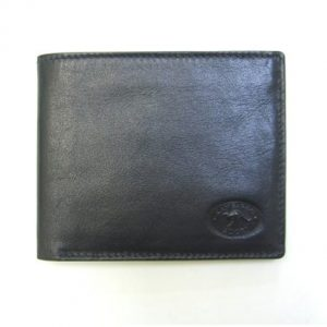 Genuine Black Leather Adori Men's Wallet - Front View