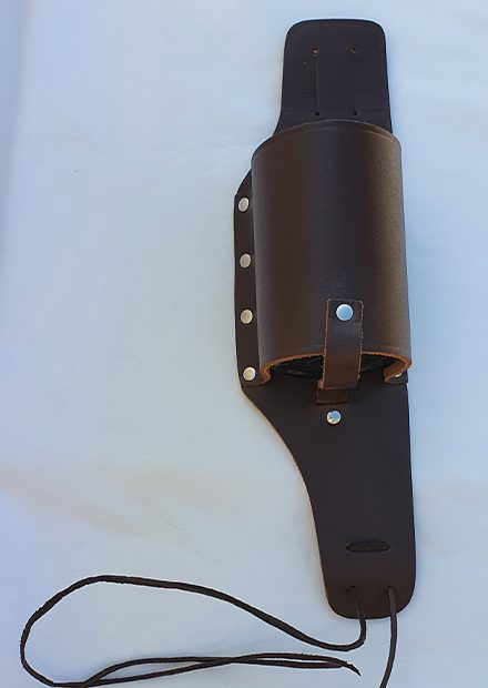 Brown Beer and Wine Holster with Foam Insert Made in Australia