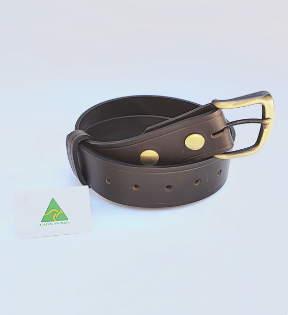 Genuine Australian Made All Leather Belt – 1.5″ (38mm) - Brown