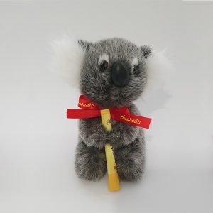 Australian Made Koala Plush Toy with Didgeridoo