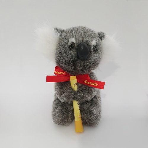 Australian Made Koala Plush Toy with Didgeridoo