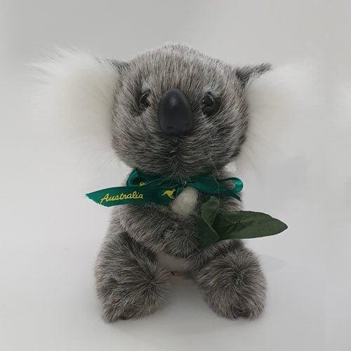 Australian Made Koala Plush Toy with Eucalyptus Leaf