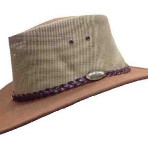 Jacaru Summer Breeze Mushroom Genuine Australian Made Leather Hat
