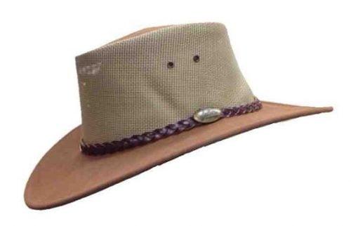 Jacaru Summer Breeze Mushroom Genuine Australian Made Leather Hat