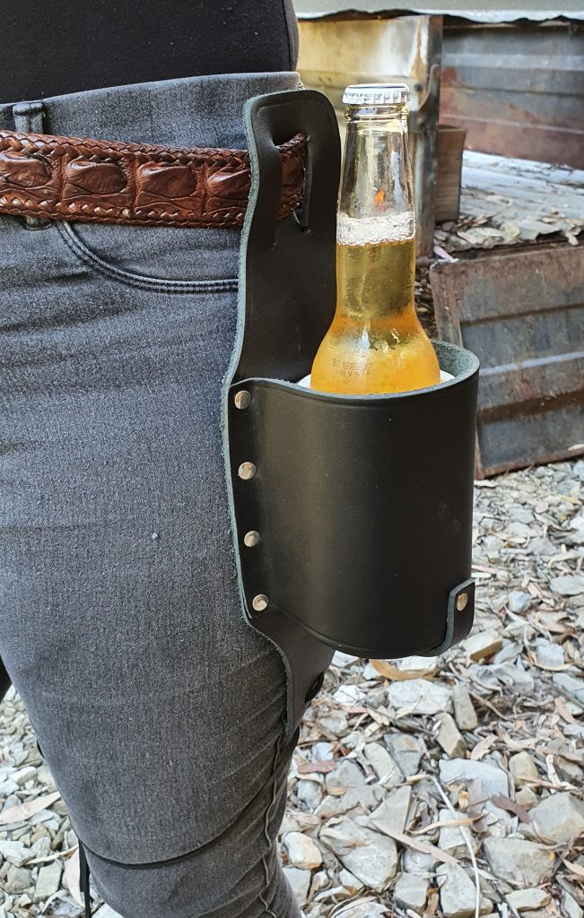All Leather Beer Holster Made in Australia