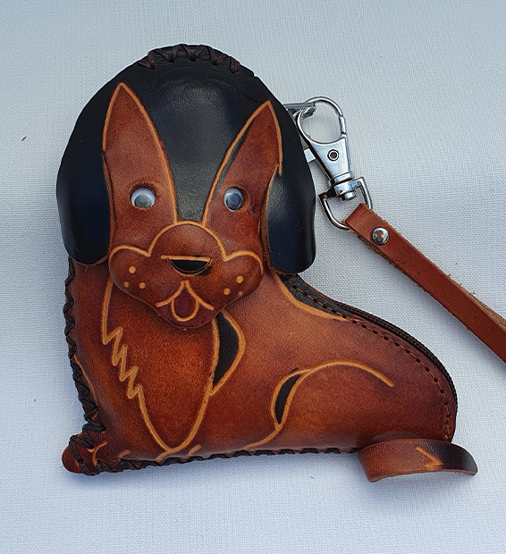 Precious Puppy - All Leather Novelty Coin Purse Made in Australia