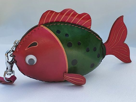 Friendly Fish - All Leather Novelty Coin Purse Made in Australia