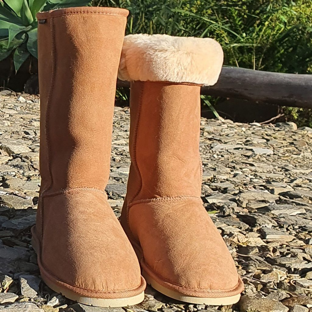Genuine Classic Tall Ugg Boots - Folded Over - Chestnut Colour