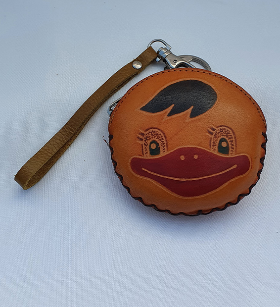 Cheeky Chicken - All Leather Novelty Coin Purse Made in Australia