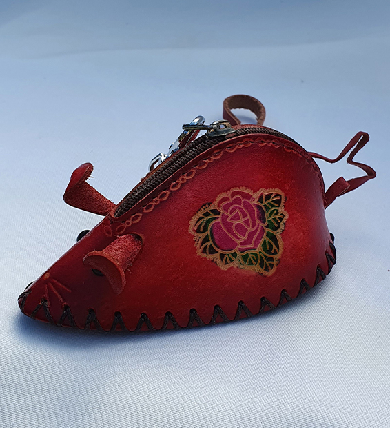 Miniature Mouse - All Leather Novelty Coin Purse Made in Australia