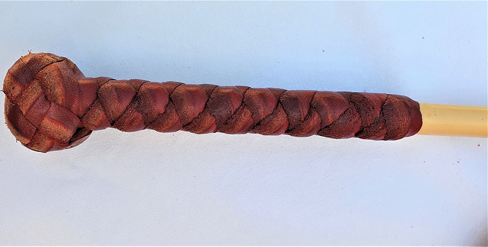 Red Hide Whip Handle