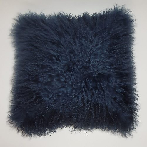 Home Decor Plush Navy Mongolian Cushion