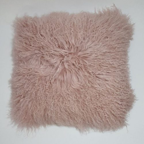 Home Decor Plush Pink Mongolian Cushion