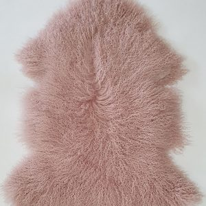 Home Decor, Plush Pink Mongolian Sheepskin