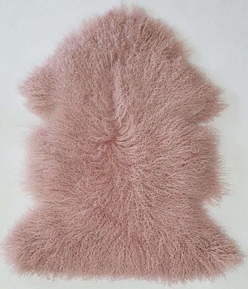 Home Decor, Plush Pink Mongolian Sheepskin