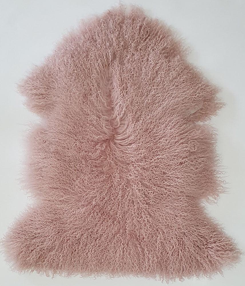 Plush Pink Mongolian Sheepskin