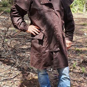 Australian Oilskin Coat – ¾ Length