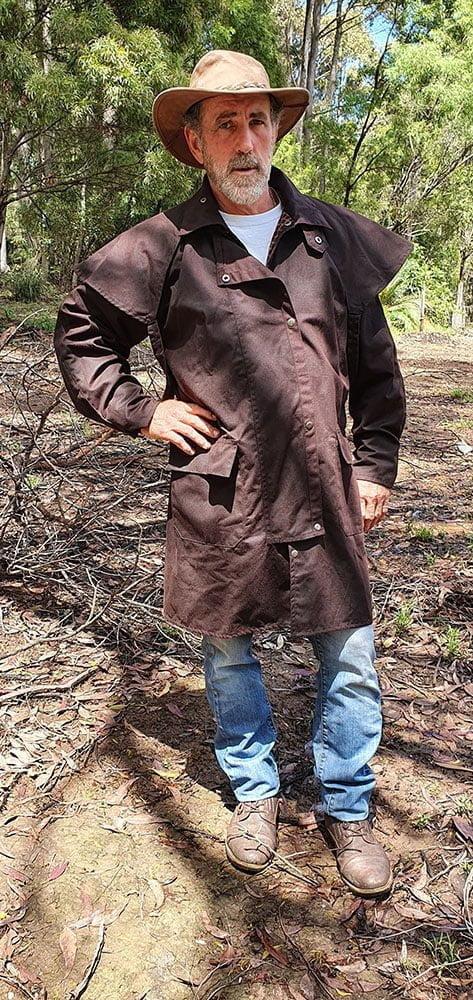 Australian Oilskin Coat – ¾ Length