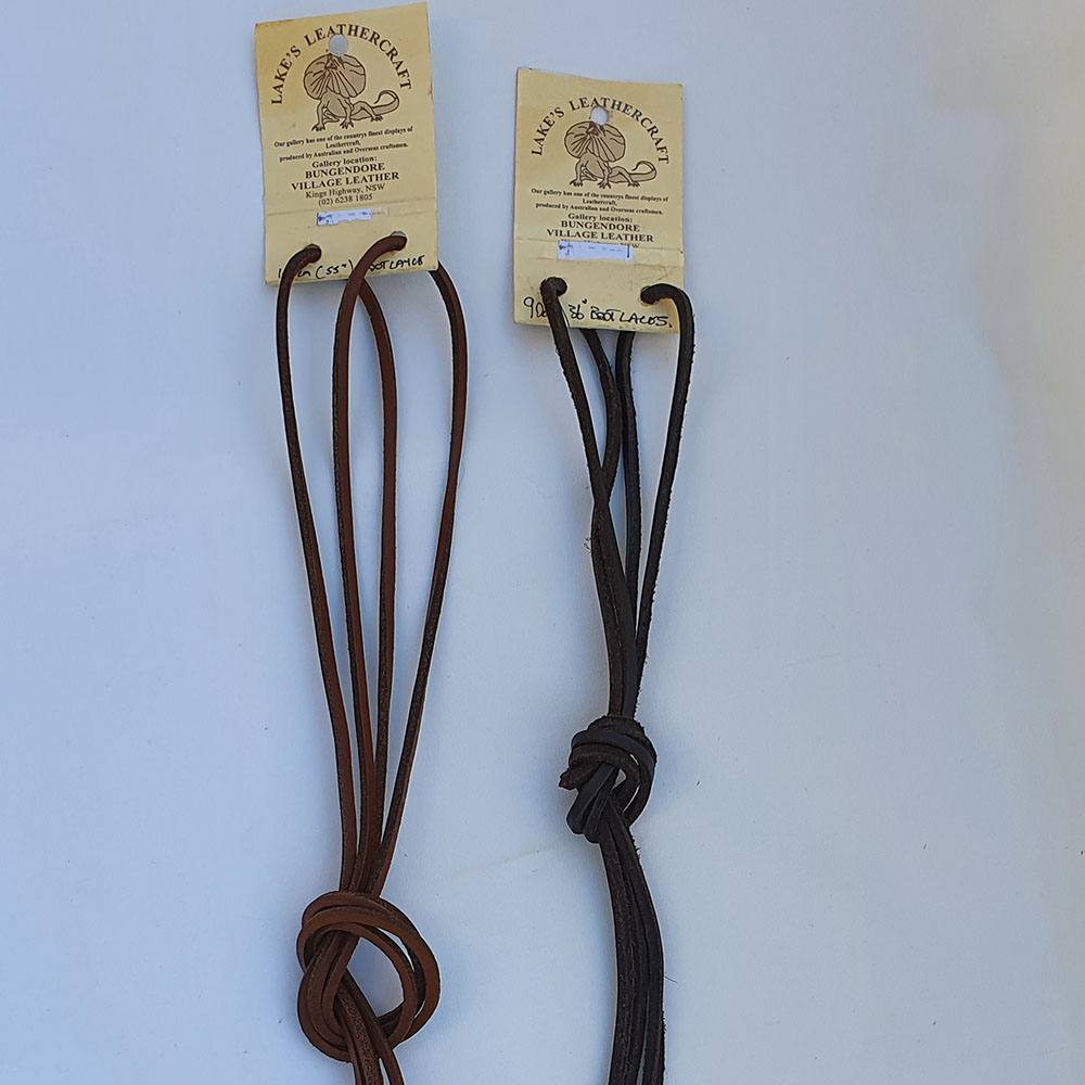 Leather Shoelaces in Brown and Black