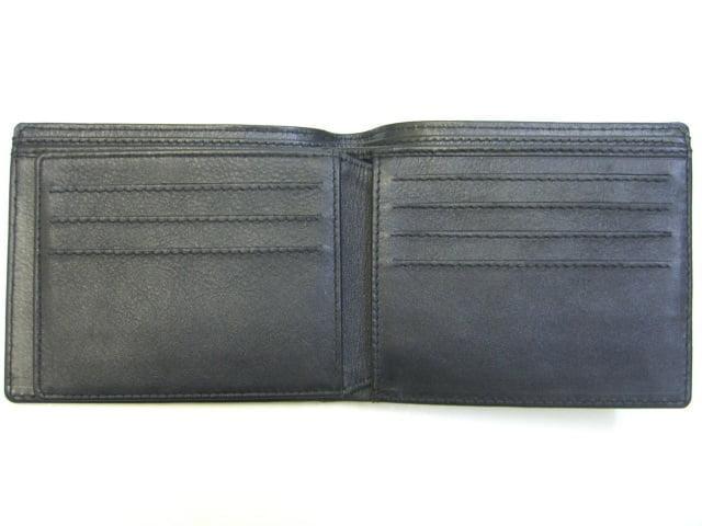 Australian Made Adori Kangaroo Leather Men's Wallet with ID Slot - Black - Open View