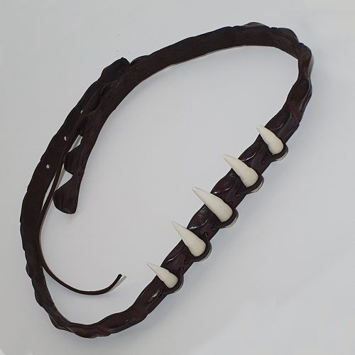 Genuine Leather Hatband Australia with 5 Croc Teeth