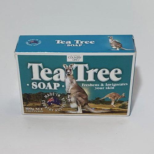 Australian Made Tea Tree Boxed Soap with Kangaroo Image
