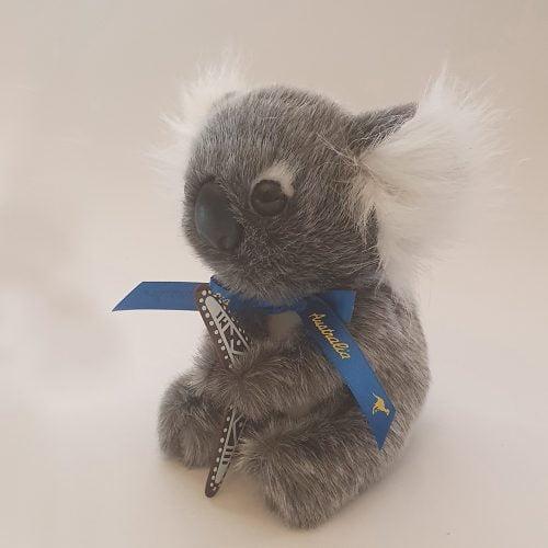Australian Made Koala Plush Toy with Boomerang