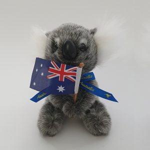 Australian Made Koala Plush Toy with Australian Flag