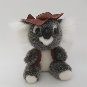 Australian Made Swaggie Koala Plush Toy with Vest - Waltzing Matilda variant available