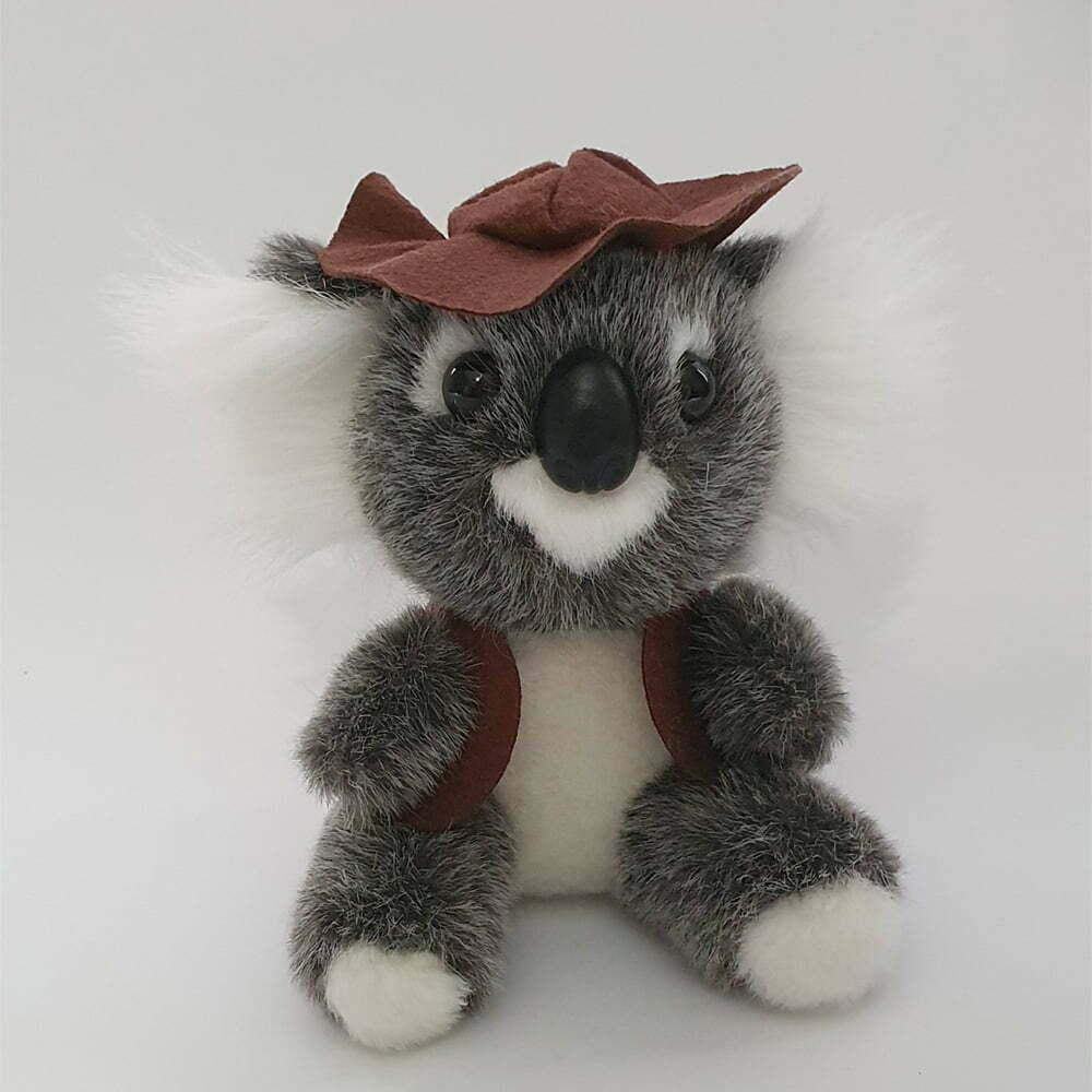 Australian Made Swaggie Koala Plush Toy with Vest