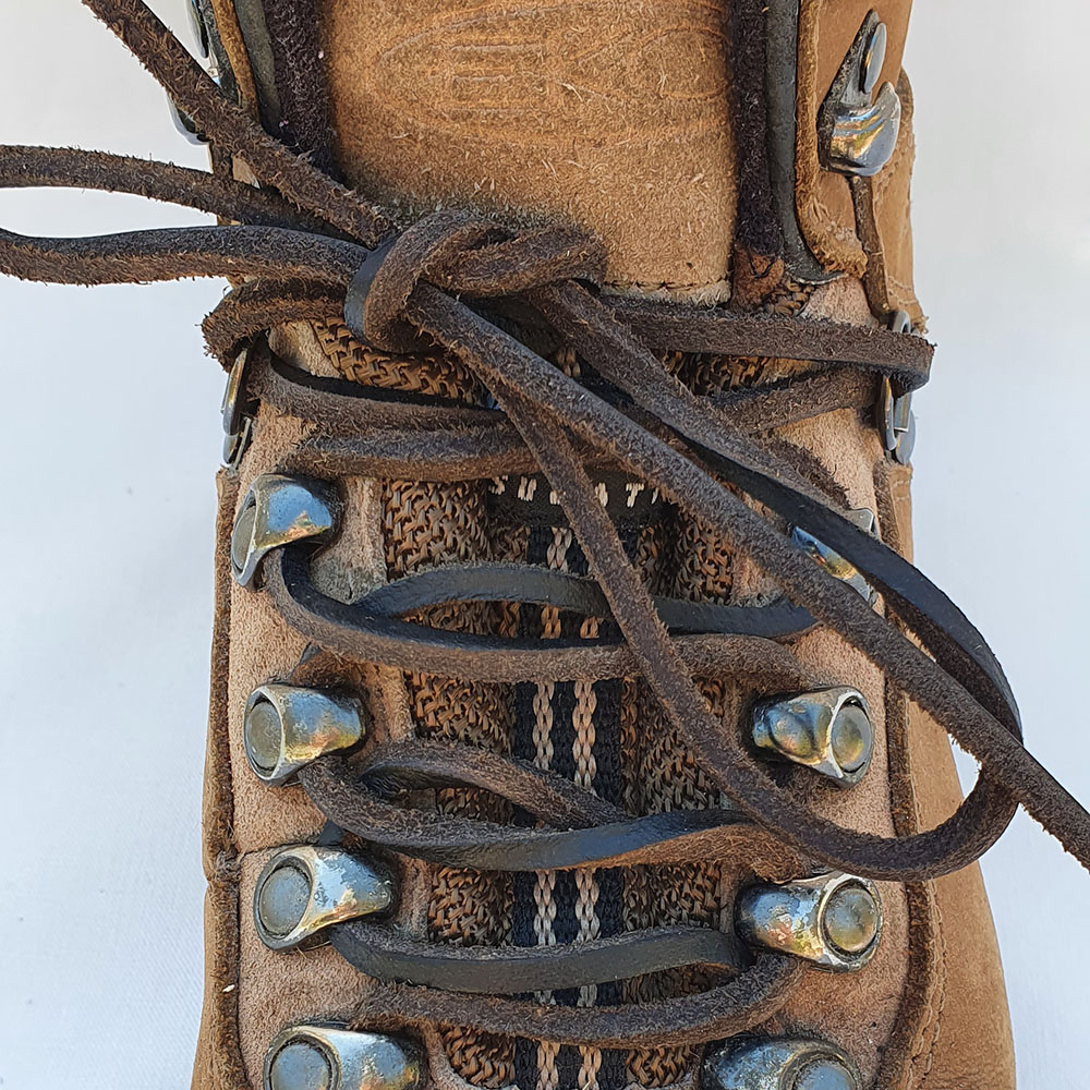Genuine Leather Brown Shoelaces