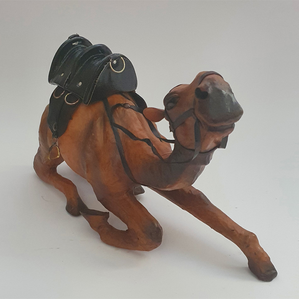 Genuine Leather Camel Sitting