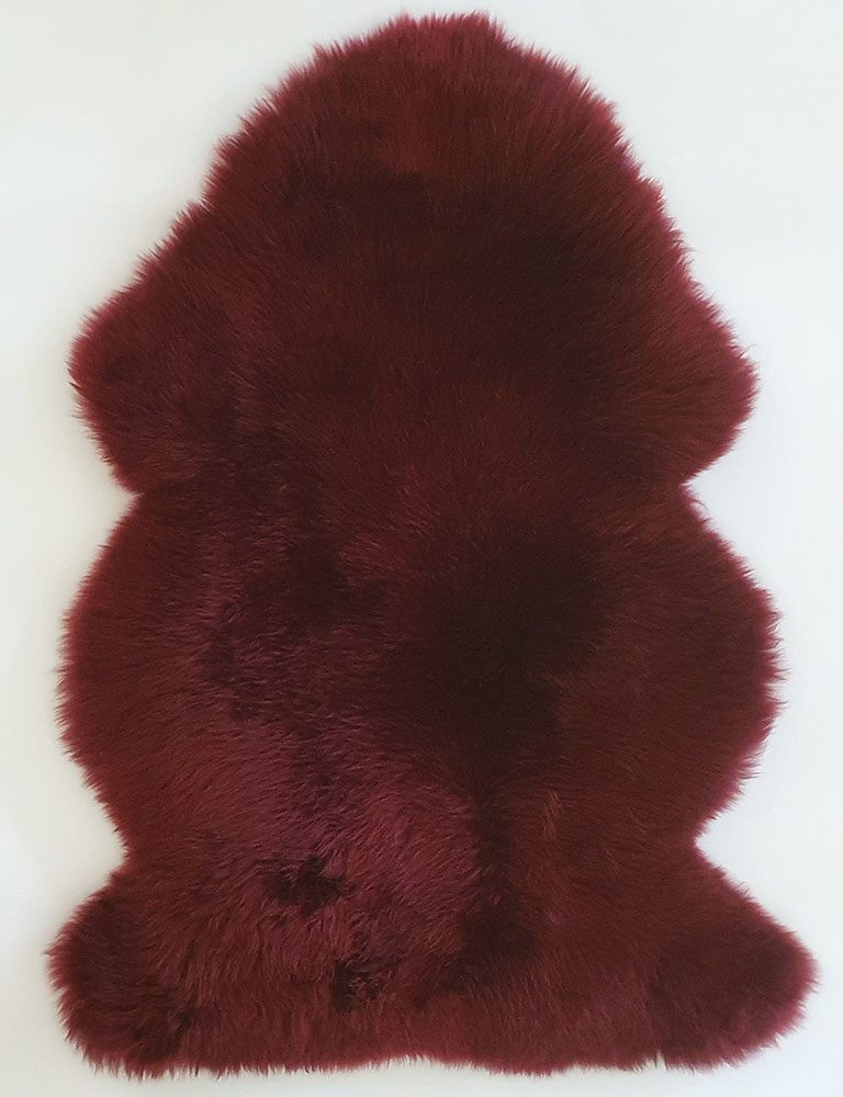 Burgundy Long Wool Premium Sheepskin