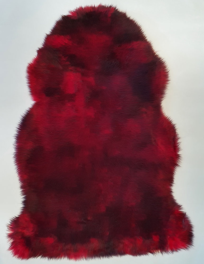 Chilli Red With Black Tip Long Wool Premium Sheepskin