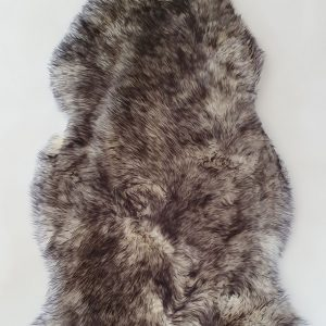 Home Decor, Wolf Ivory With Black Long Wool Premium Sheepskin