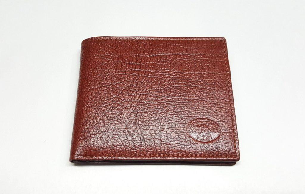 Australian Made Adori Kangaroo Leather Men's Wallet with ID Slot - Tan - Front View