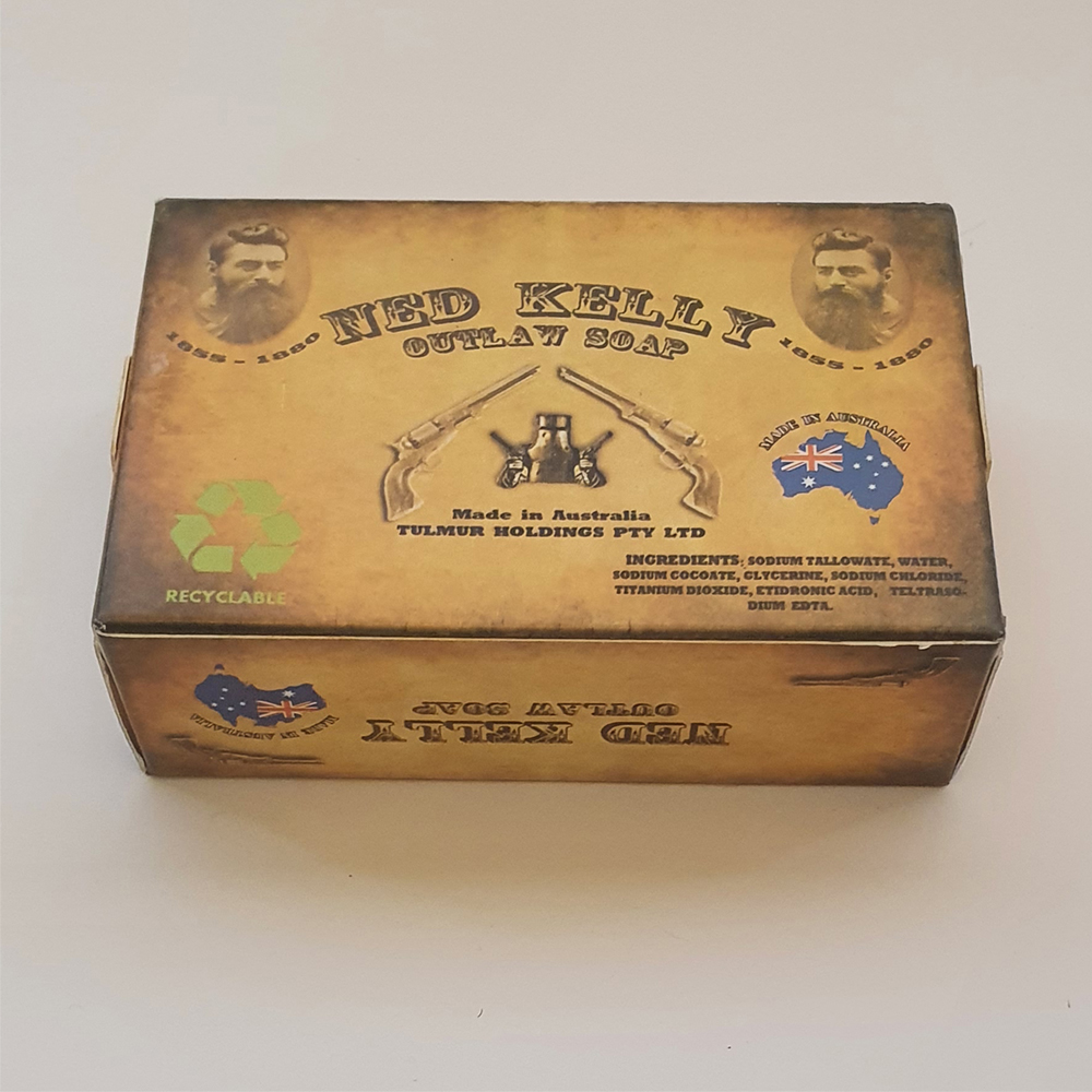 Australian Made Outlaw Boxed Soap with Ned Kelly Image