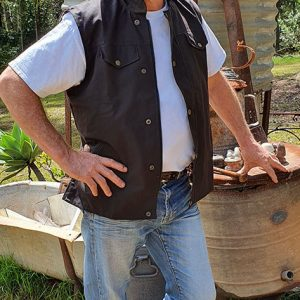 Man in Oilskin Vest