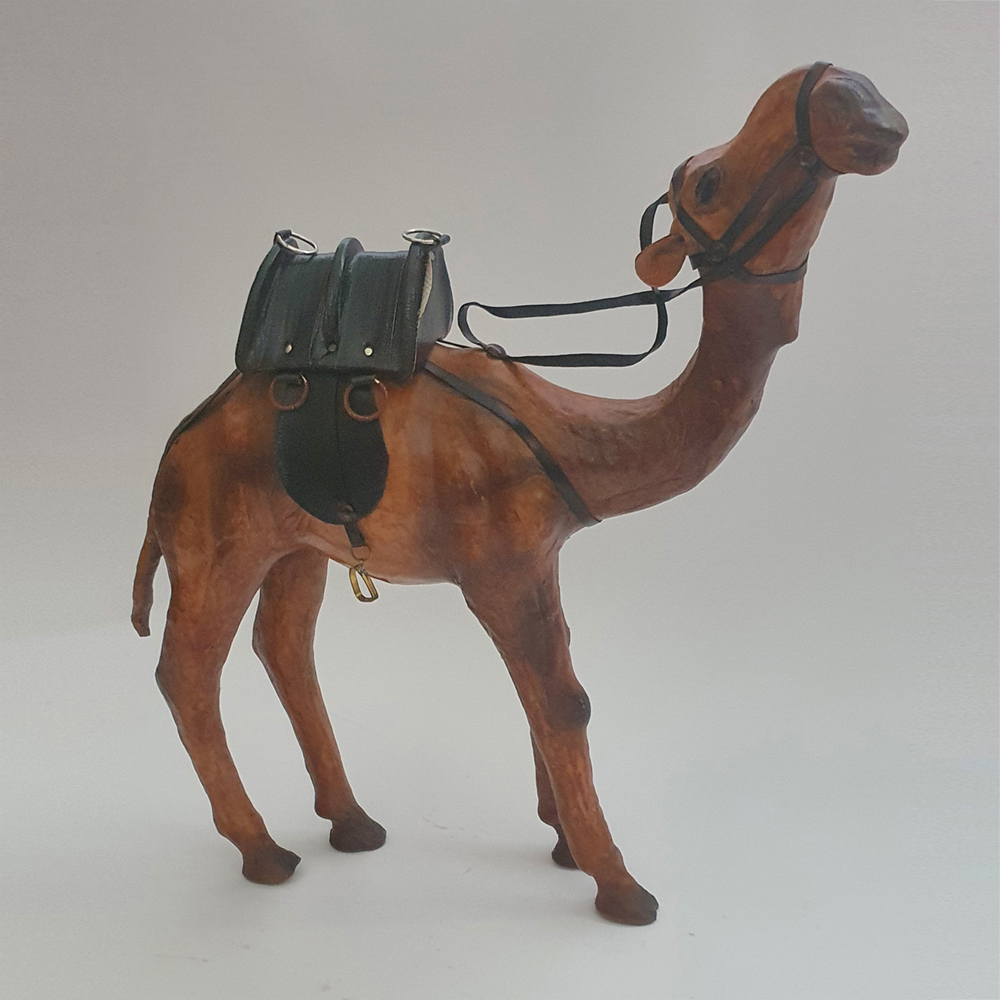 Genuine Leather Camel Standing